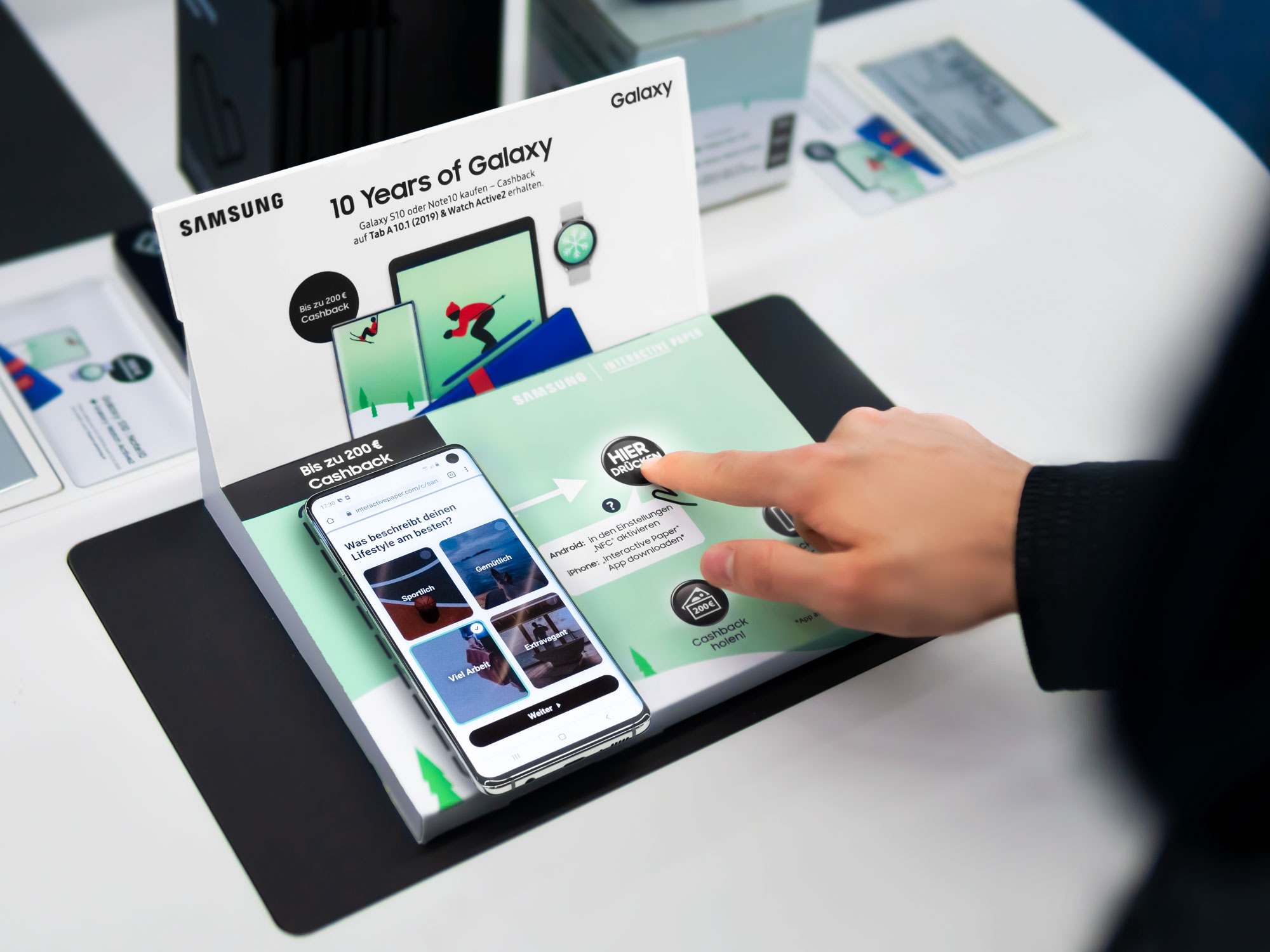 Samsung's Interactive Display in use