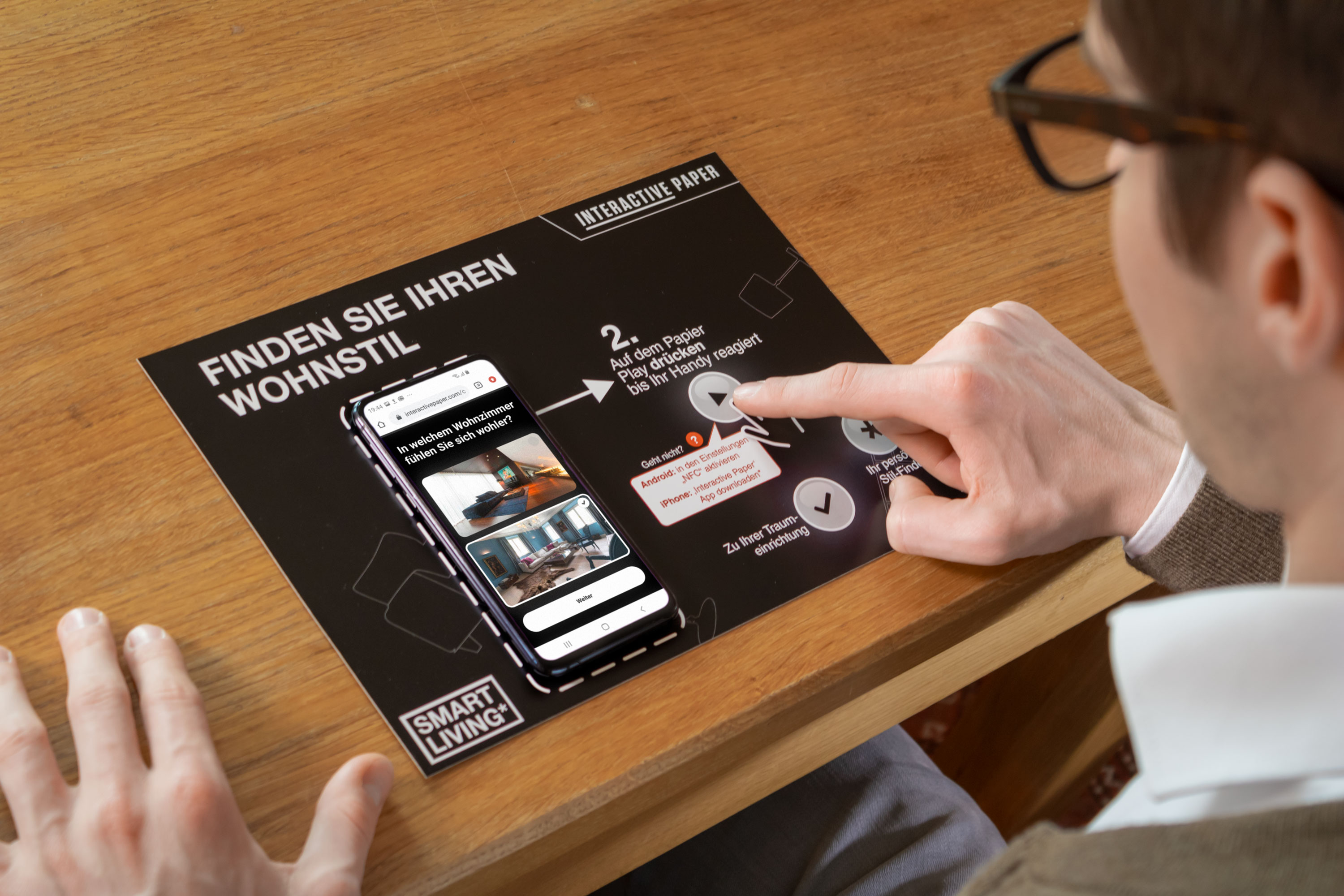 Interactive Paper used by a customer